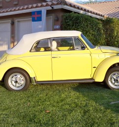 this is the ultimate 1978 perfectly restored to yellow vw beetle  [ 2592 x 1728 Pixel ]