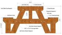 8 Foot Picnic Table Plans
