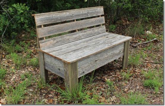 rustic bench plans make