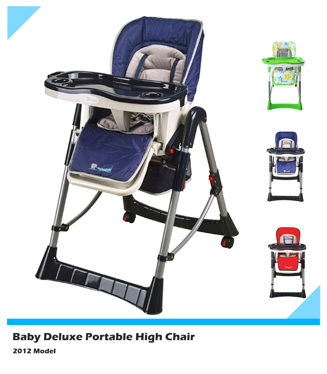 cloth portable high chair wheelchair bedroom elite baby deluxe comfortable blue