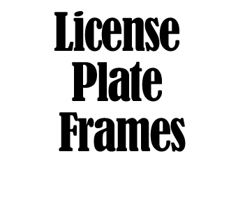 License Plate Frames in Silver or Black Stainless Steel