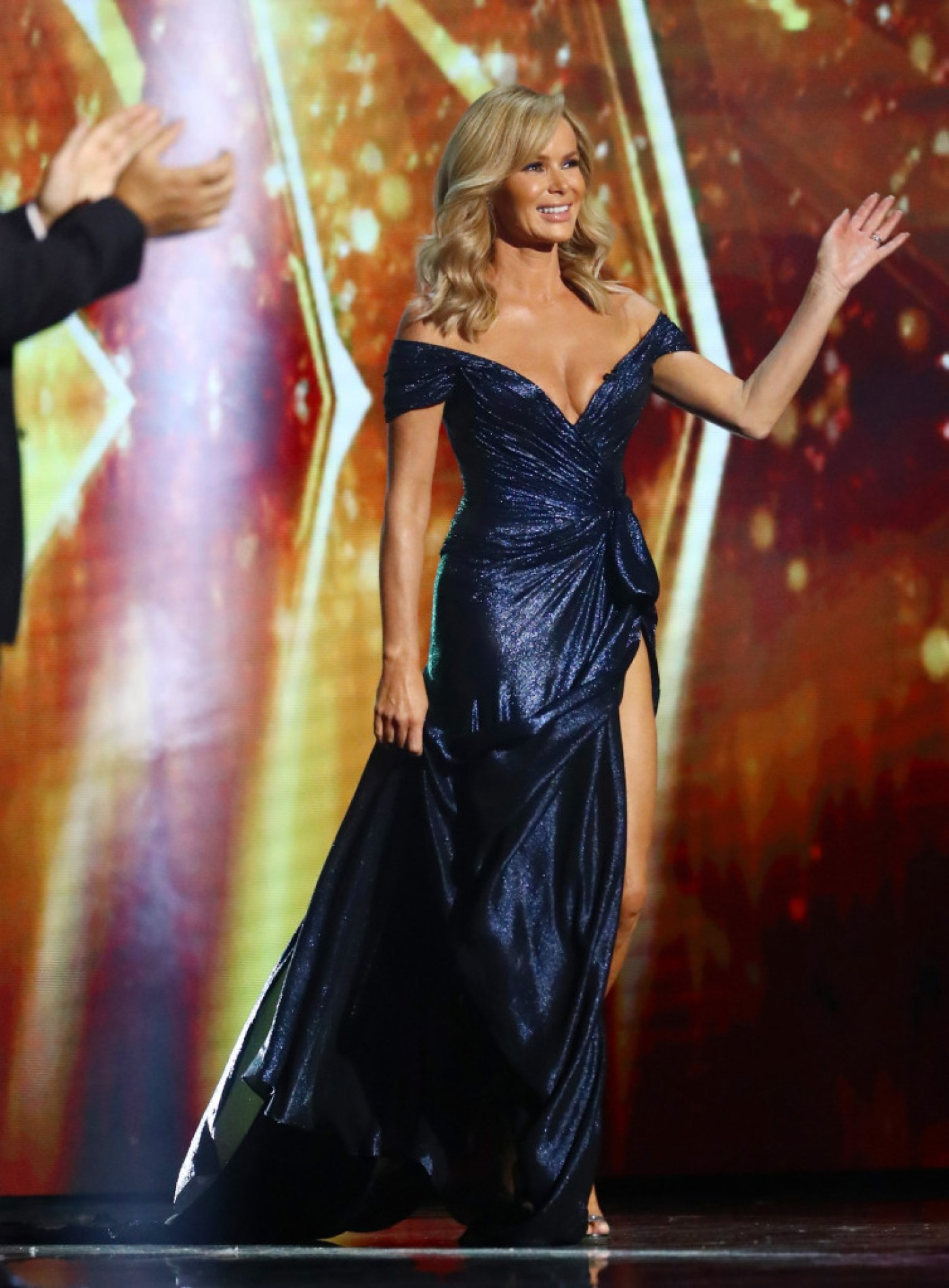 This image and the information contained herein is strictly embargoed until 22.00 Saturday 26th September 2020 From Syco / Thames Britain's Got Talent: SR14: Semi Final Ep4 on ITV Pictured: Amanda Holden. This photograph is (C) Syco/Thames and can only be reproduced for editorial purposes directly in connection with the programme or event mentioned above, or ITV plc. Once made available by ITV plc Picture Desk, this photograph can be reproduced once only up until the transmission [TX] date and no reproduction fee will be charged. Any subsequent usage may incur a fee. This photograph must not be manipulated [excluding basic cropping] in a manner which alters the visual appearance of the person photographed deemed detrimental or inappropriate by ITV plc Picture Desk. This photograph must not be syndicated to any other company, publication or website, or permanently archived, without the express written permission of ITV Picture Desk. Full Terms and conditions are available on the website www.itv.com/presscentre/itvpictures/terms For further information please contact: james.hilder@itv.com / 0207 157 3052