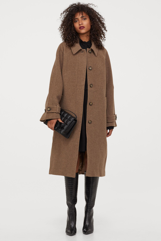Wool-blend coat (Picture: H&M)