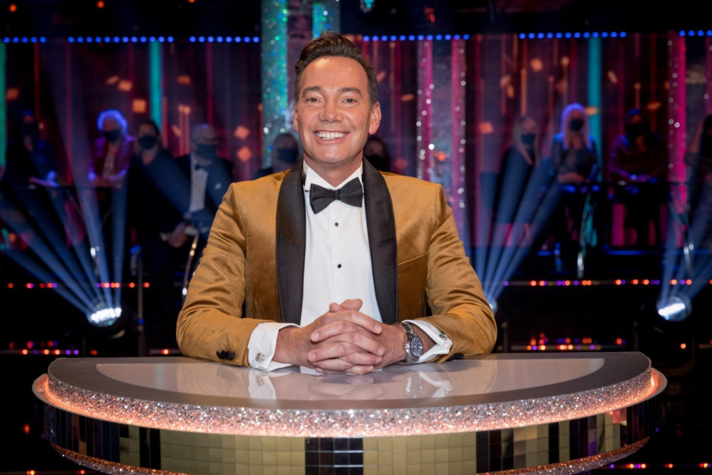 EMBARGOED TO 0001 SATURDAY OCTOBER 17 For use in UK, Ireland or Benelux countries only Undated BBC handout photo of the judge Craig Revel Horwood during the launch show for this year's BBC1's dancing contest, Strictly Come Dancing. PA Photo. Issue date: Saturday October 17, 2020. See PA story SHOWBIZ Strictly. Photo credit should read: Guy Levy/BBC/PA Wire NOTE TO EDITORS: Not for use more than 21 days after issue. You may use this picture without charge only for the purpose of publicising or reporting on current BBC programming, personnel or other BBC output or activity within 21 days of issue. Any use after that time MUST be cleared through BBC Picture Publicity. Please credit the image to the BBC and any named photographer or independent programme maker, as described in the caption.