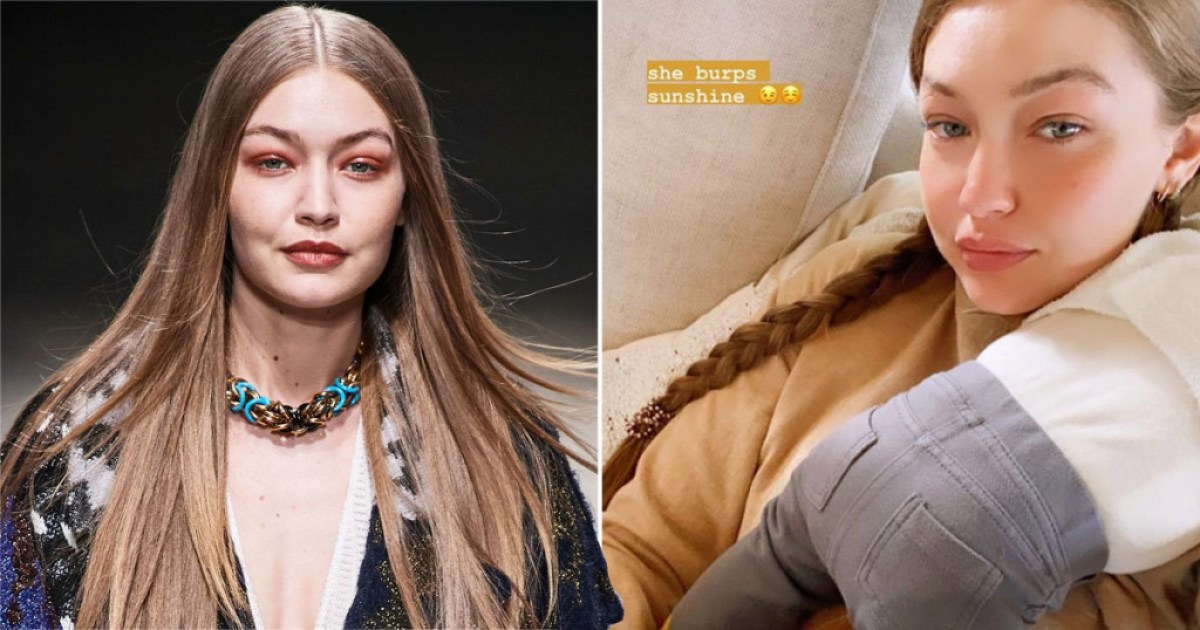 Gigi Hadid pictured on catwalk and at home with baby daughter
