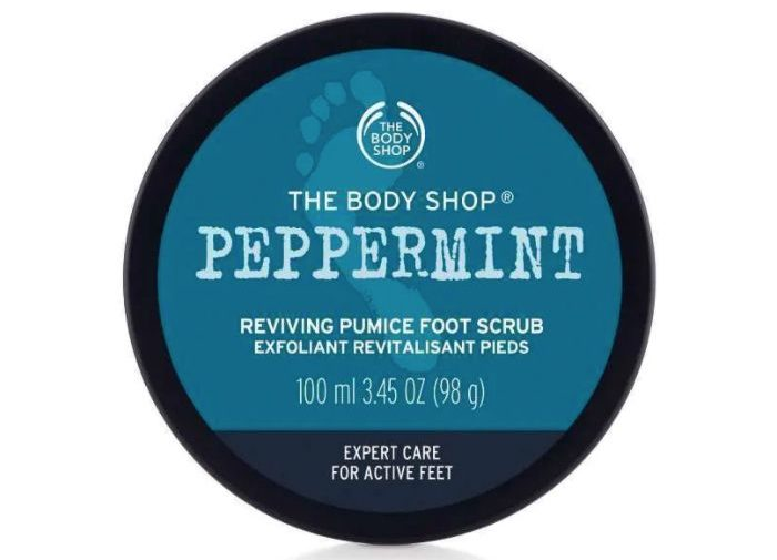 My Celebrity Life – The Body Shop Peppermint Reviving Pumice Foot Scrub