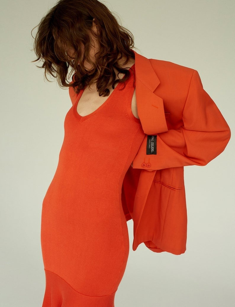 Guess by Marciano Orange Knit Summer Dress