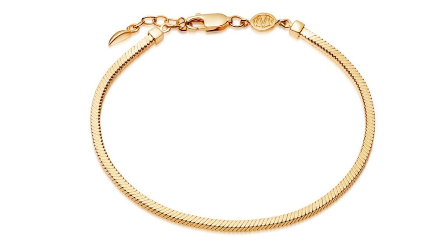 My Celebrity Life – Missoma Lucy Williams Gold Square Snake Chain Bracelet