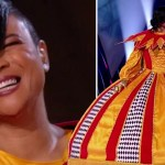My Celebrity Life – Gabrielle was revealed to be Harlequin on last nights Masked Singer Picture ITV
