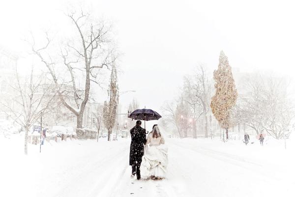 se marier en hiver est magique.