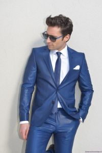Costume de cérémonie bleu royal Karl Lagerfeld
