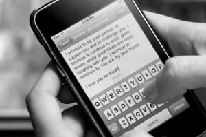 Ecrire ses voeux sur son portable