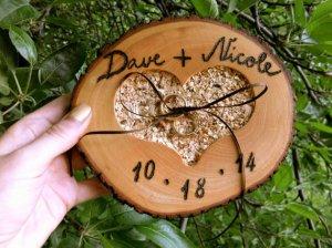 Porte alliances en bois : l'esprit natur'chic