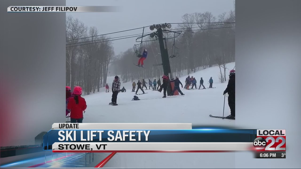 Skiers and riders stranded on the lift for hours