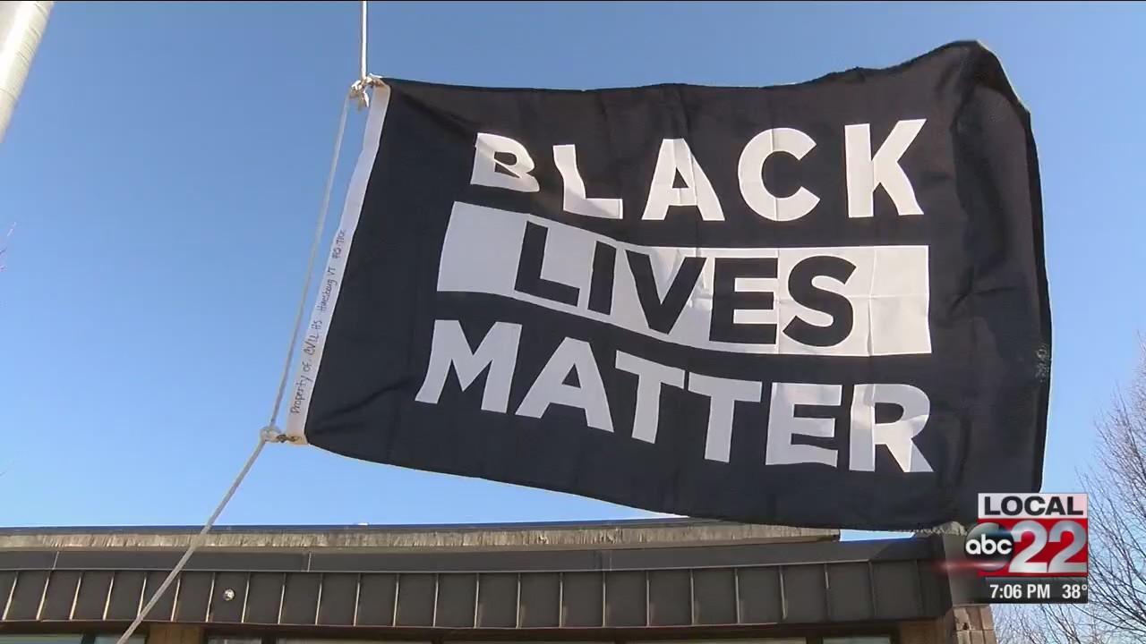 CVU students raise Black Lives Matter flag