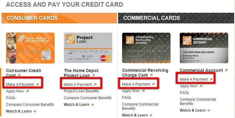 Make Home Depot Credit Card Payment Online