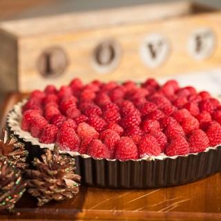 No Bake Mascarpone Fruit and Amaretto Tart