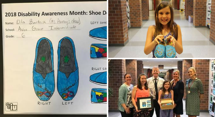 Avon Grove Intermediate School Sixth Grade Student Wins Disability Awareness Shoe Design Contest