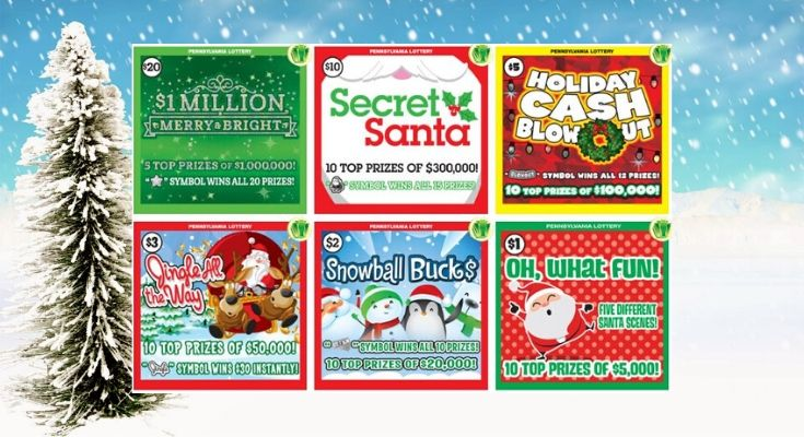 New Pennsylvania Lottery Holiday-Themed Games Launch Offering Second Chances to Win More Than $1 Million in Prizes