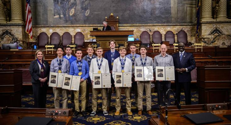 Sappey Welcomes State Boys Cross Country Champions from Downingtown West High School to State Capitol