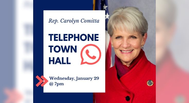 Comitta Hosting Telephone Town Hall Next Wednesday