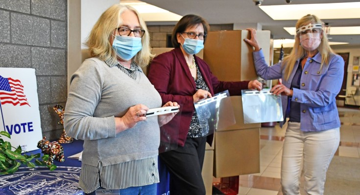 Chester County Voter Services Receives Donation of 1,500 Face Shields