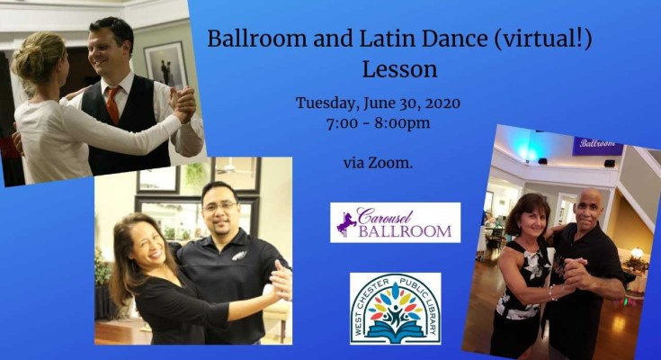 Ballroom and Latin Dance Virtual Lesson at West Chester Public Library