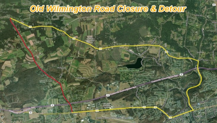 Old Wilmington Road to Close Next Week for Base Repair in West Caln, Sadsbury Townships