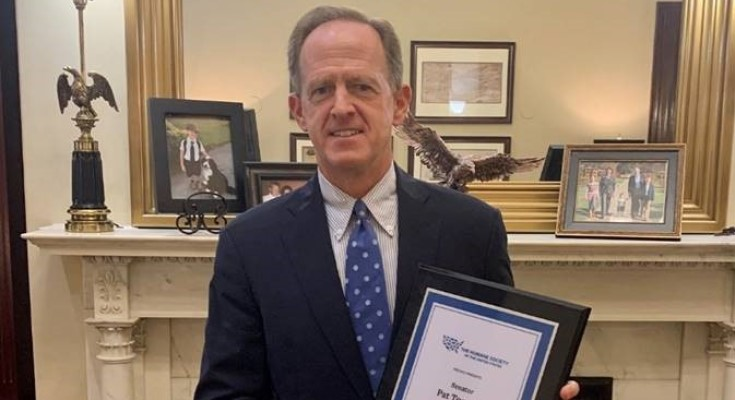 Senator Toomey Named 'Legislator of the Year' by Animal Rights Groups