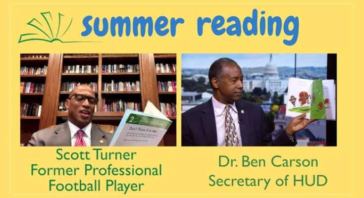 Secretary Carson and Scott Turner Hold Reading Session for Kids as Part of Summer Series