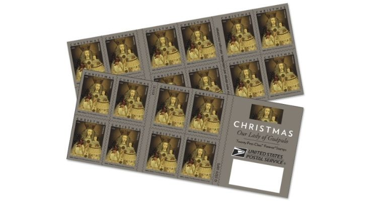 U.S. Postal Service Issues New Christmas Stamp, Our Lady of Guápulo