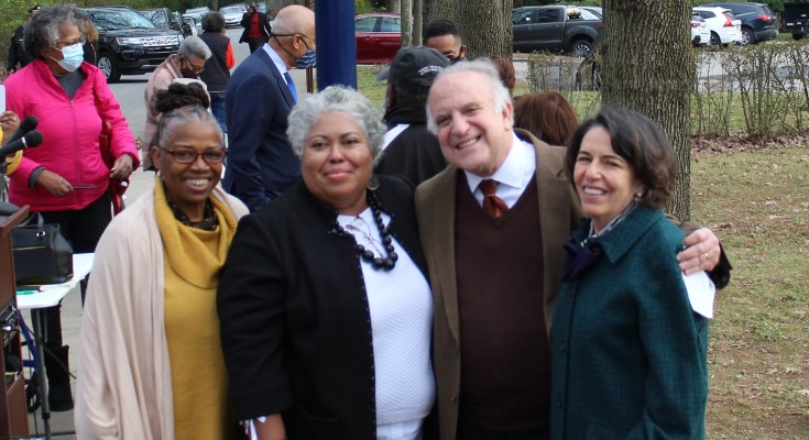 Dinniman, Church Members Dedicate Historical Marker Commemorating Tredyffrin School Segregation Battle