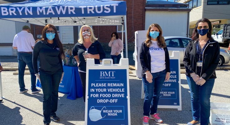 Bryn Mawr Trust Hosting Contactless Food Drive Saturday in West Chester