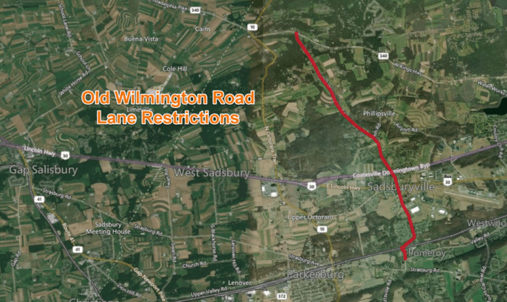 Old Wilmington Road Restricted Next Week for Resurfacing Operations in West Caln, Sadsbury Townships