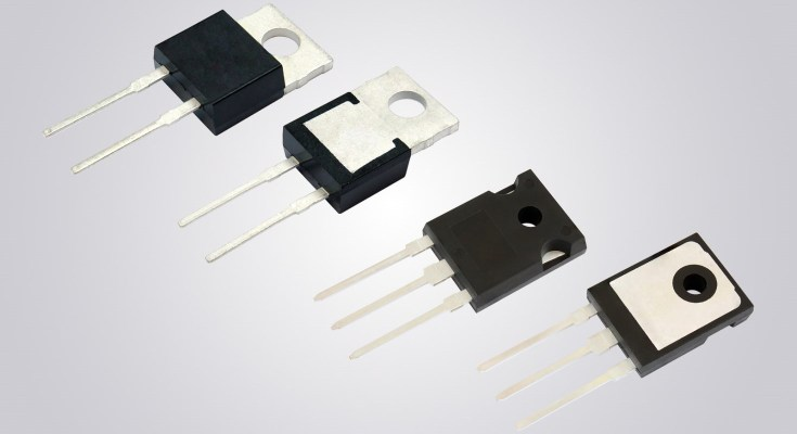 New Vishay Intertechnology 650 V SiC Schottky Diodes Increase Efficiency for High Frequency Applications