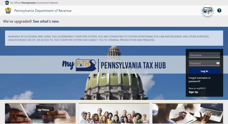 PA Taxpayers Encouraged To Use New Online Filing System For PA Tax Returns