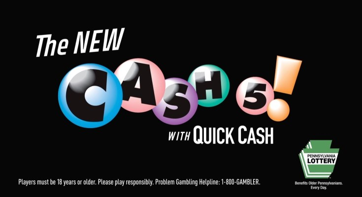 Pennsylvania Lottery Launches Cash 5 with Quick Cash
