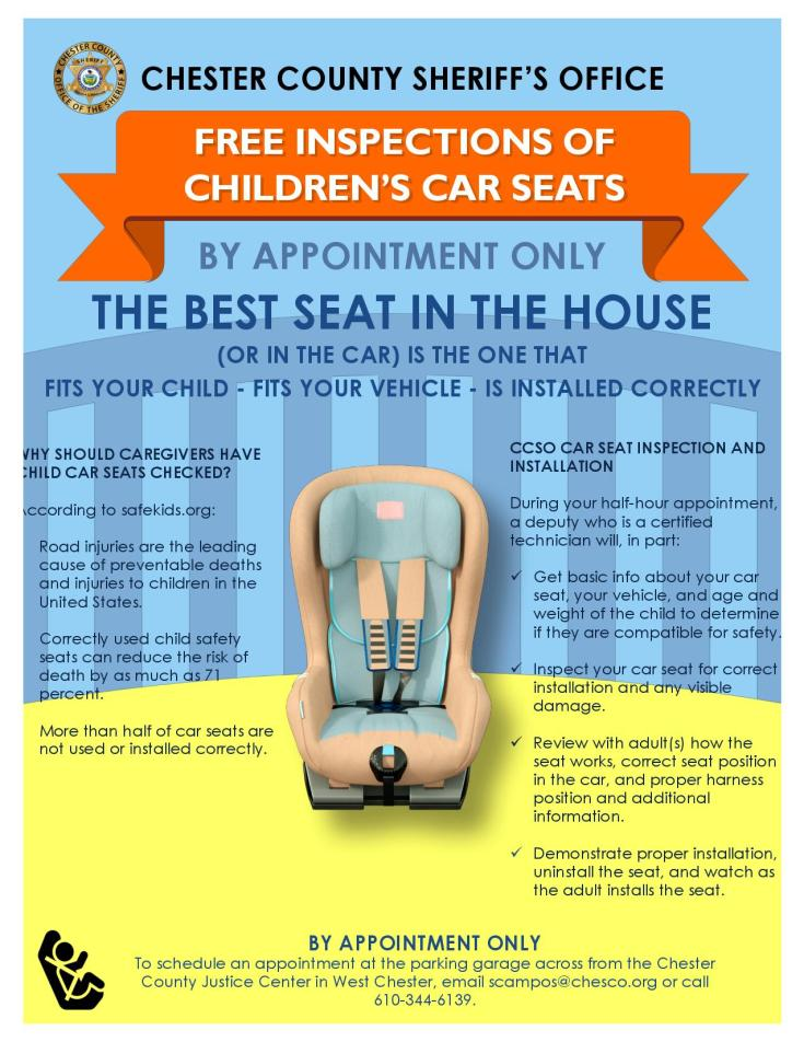 CCSO's Best Seat in the House flyer