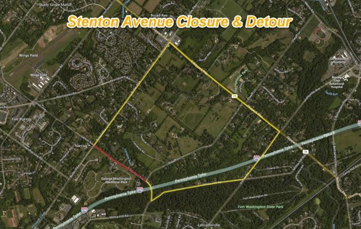 Stenton Avenue Closure Sheaff to Butler