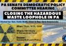 Policy Hearing Sept 30 Hazardous Waste