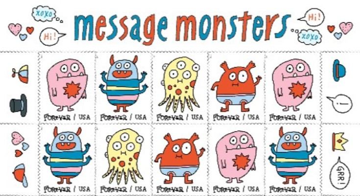 monsters stamps