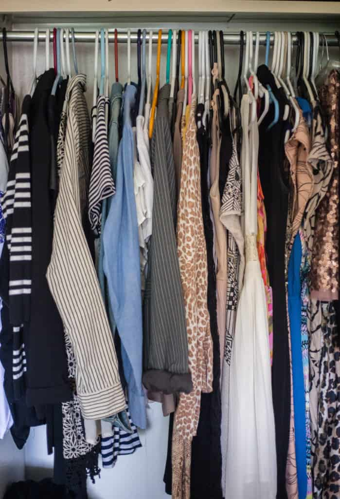 pictures of clothes in a closet