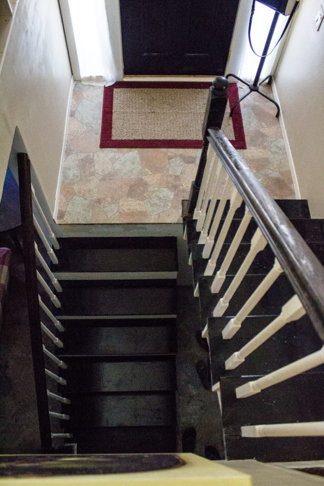 Split Level Staircase and Entryway Makeover  My Chic