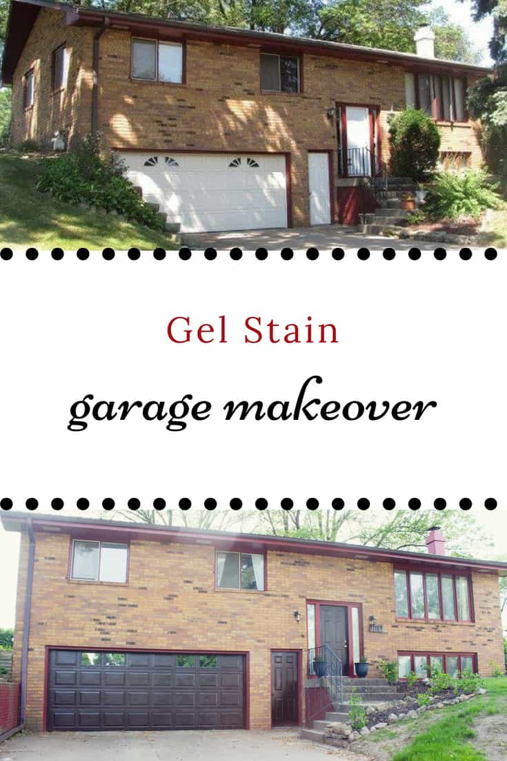 painting garage with gel stain