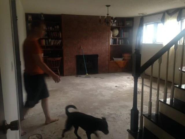 basement makeover on a budget