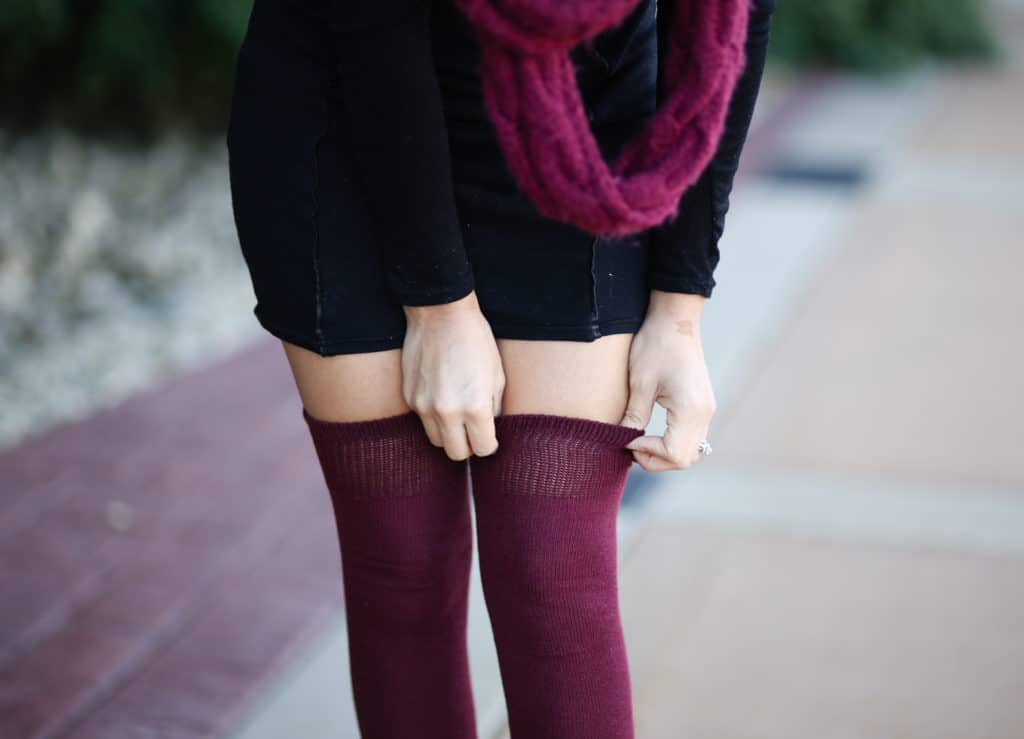 Thigh High Socks Outfit Ideas - MY CHIC