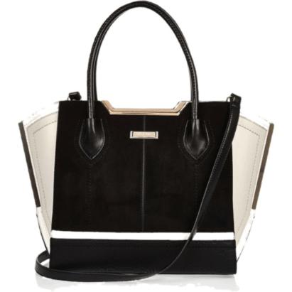 black and white purse