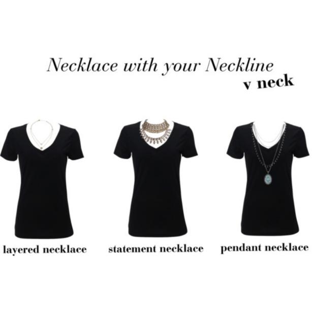 v neck neckline