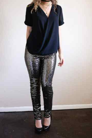 sequin pants outfit