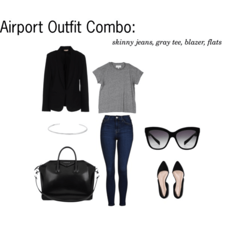 airport outfit combo